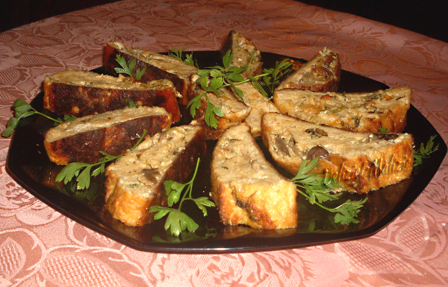 Polpettone di pollo ai funghi e fontina
