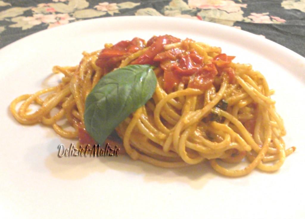 Spaghetti risottati ai datterini e noci