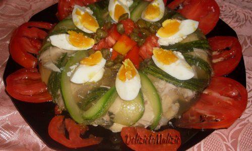Aspic di pollo e zucchine all'arancia