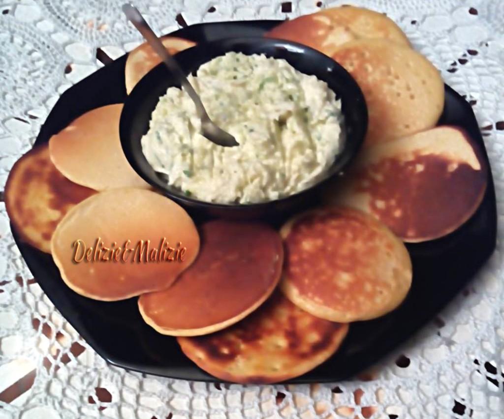 Baccalà mantecato con pancakes di ceci