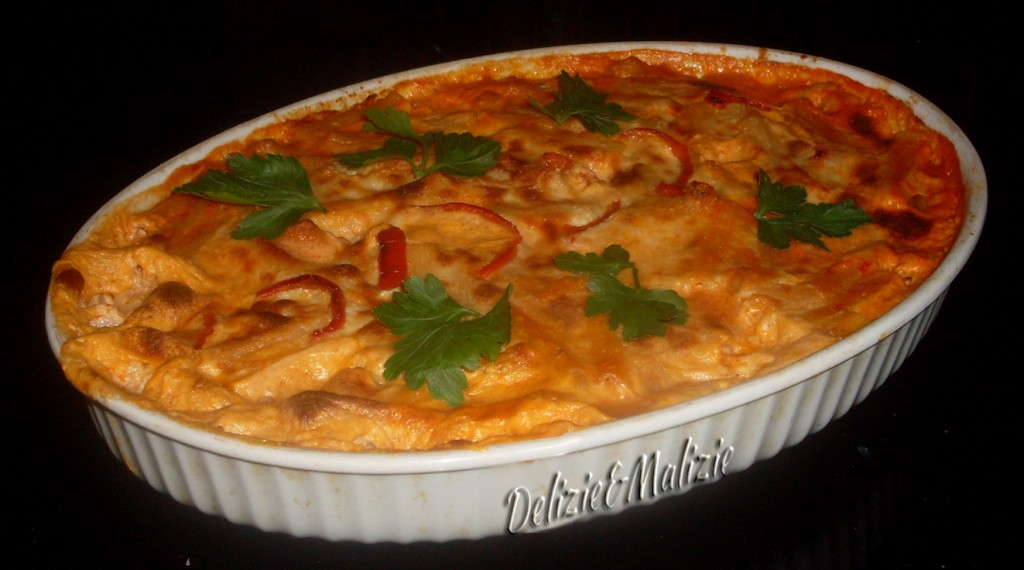 Lasagne in vellutata di peperoni