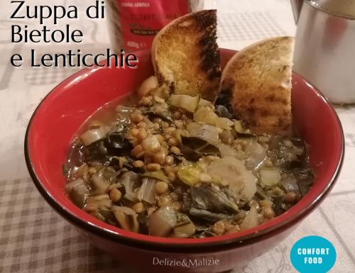 Zuppa di bietole e lenticchie
