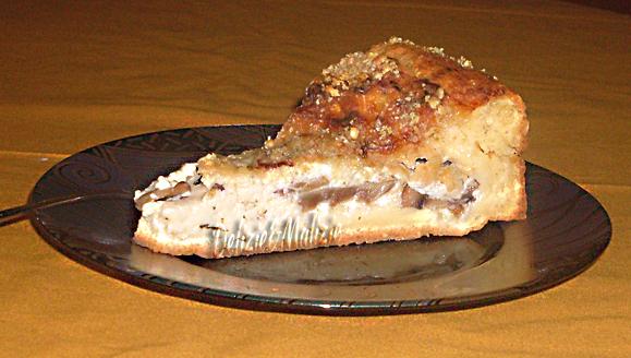 Torta Nua salata ai funghi e fontina