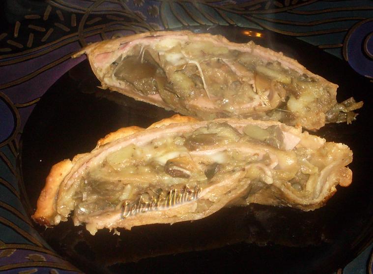 Strudel di carciofi ai semi di girasole