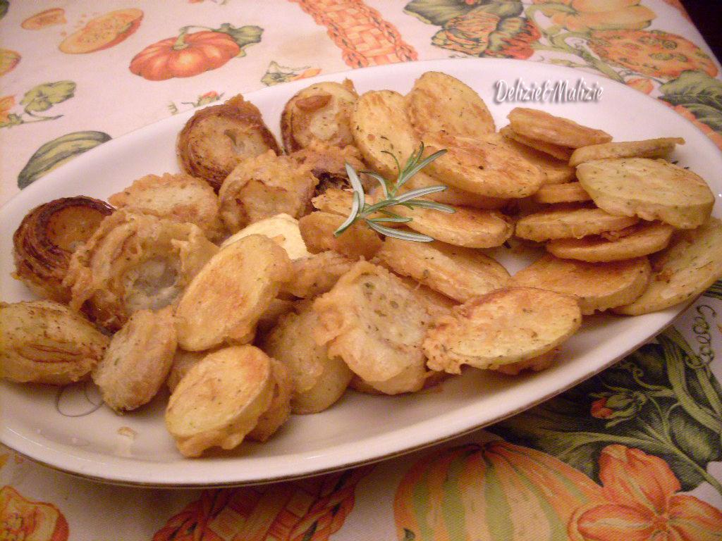 Frittura aromatica di patate e cipolle