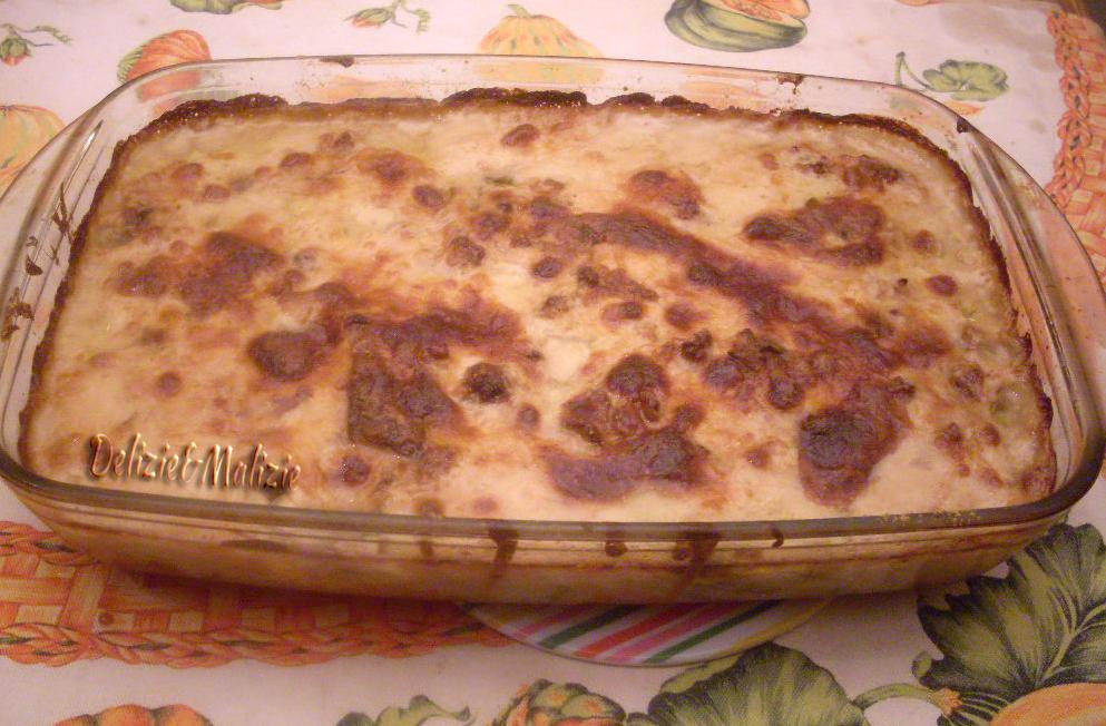 Lasagnette di patate salsiccia e porcini