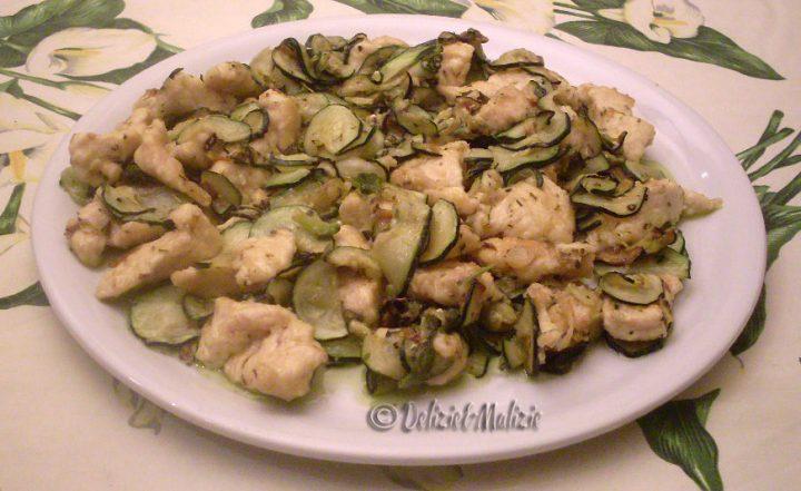 Veneziana di pollo e zucchine al timo