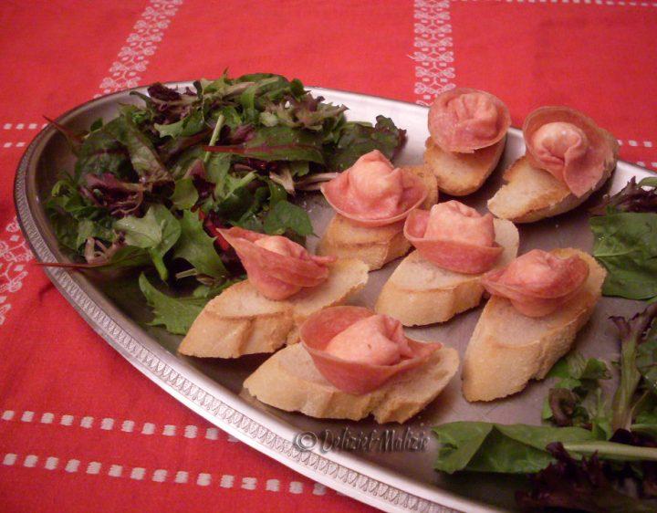 Tortelloni di salame e formaggio