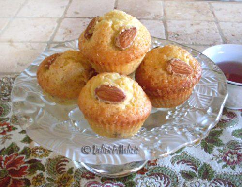 Muffins mandorlati, veloci e senza pesare nulla