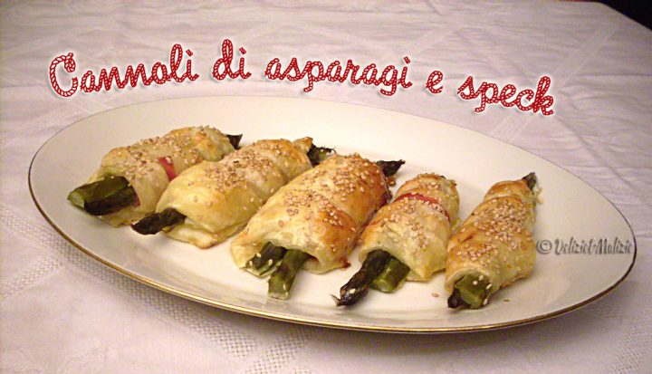 Cannoli di asparagi e speck, un antipasto facile e sfizioso