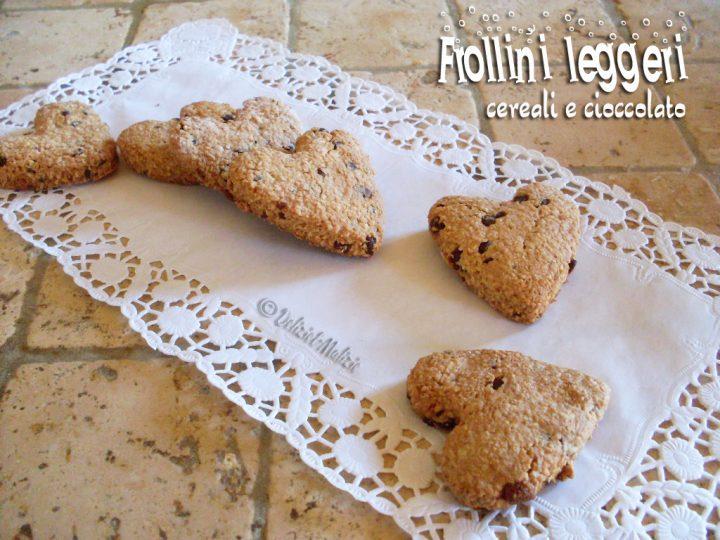 Frollini leggeri cereali e cioccolato, una colazione sana e veloce
