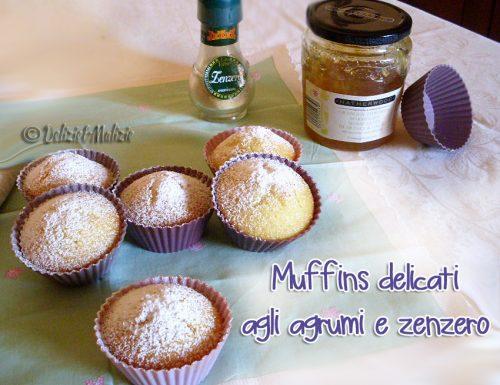 Muffins delicati agli agrumi e zenzero