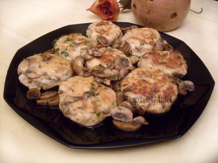 Hamburger di tacchino ai funghi e fontina