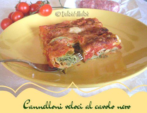 Cannelloni veloci al cavolo nero – pasta al forno senza besciamella