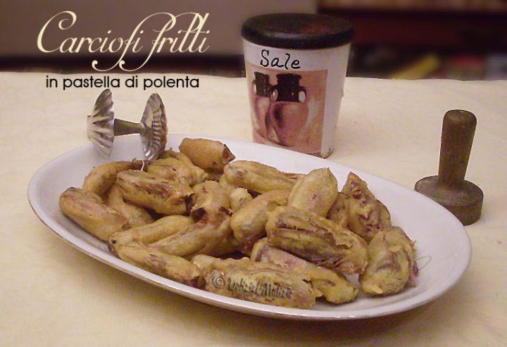 Carciofi fritti in pastella di polenta