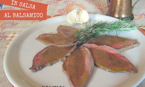 Roastbeef in casseruola con salsa al balsamico