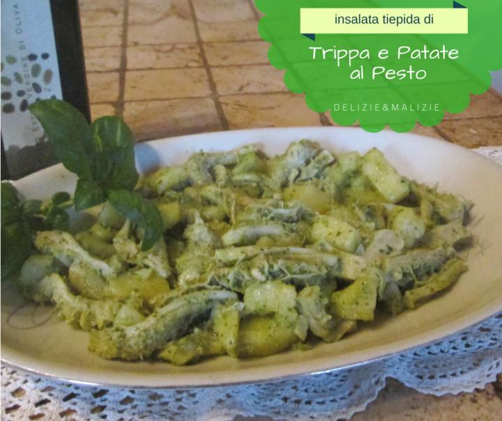 Insalata tiepida di Trippa e Patate al Pesto