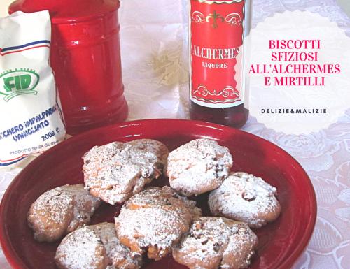 Biscotti sfiziosi all'Alchermes e Mirtilli