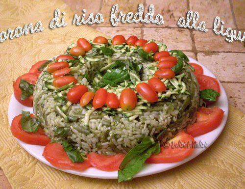 Corona di riso fredda alla ligure