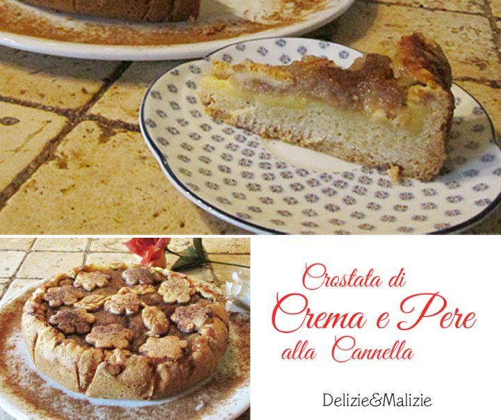Crostata di Crema e Pere alla Cannella