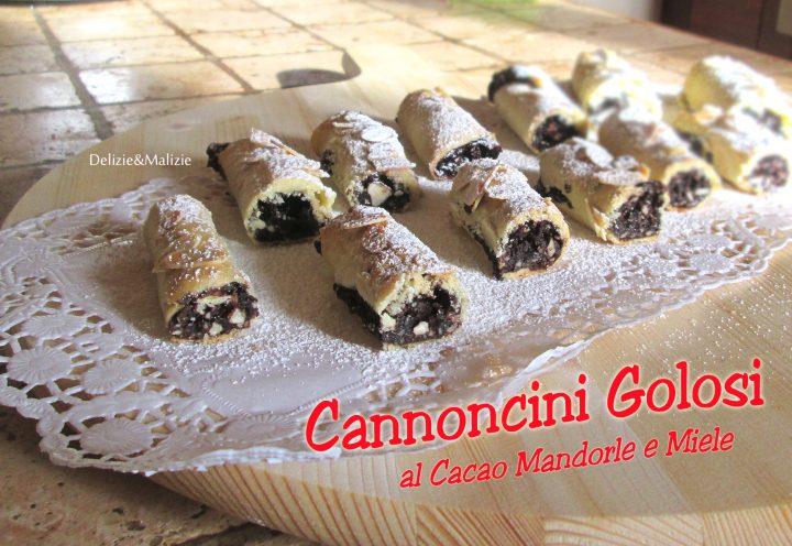 Cannoncini Golosi al Cacao, Mandorle e Miele