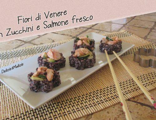 Fiori di Venere con Zucchini e Salmone fresco