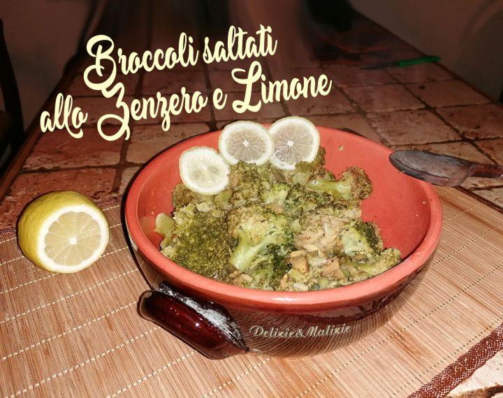 Broccoli saltati allo Zenzero e Limone