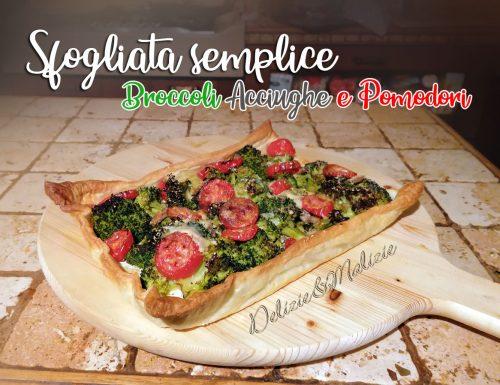 Sfogliata semplice Broccoli Acciughe e Pomodori