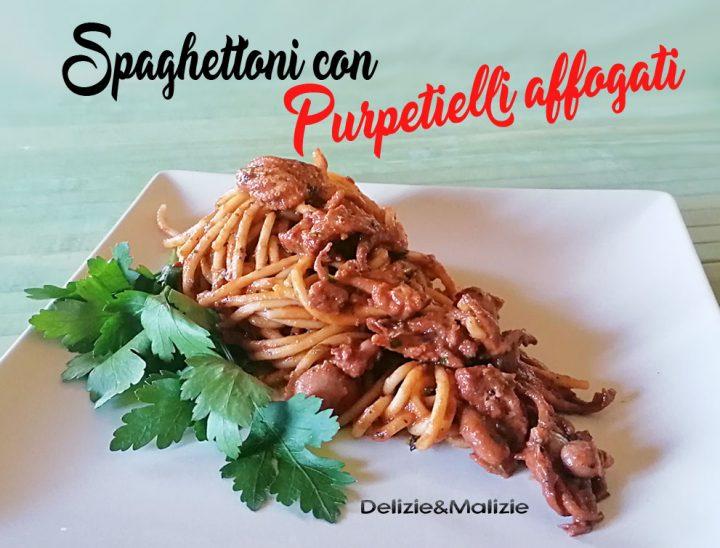 Spaghettoni con Purpetielli affogati