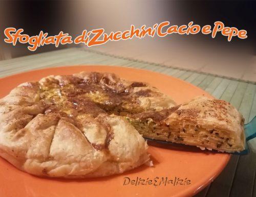 Sfogliata di Zucchini Cacio e Pepe