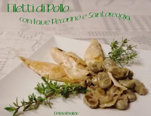 Filetti di Pollo con Fave, Pecorino e Santoreggia