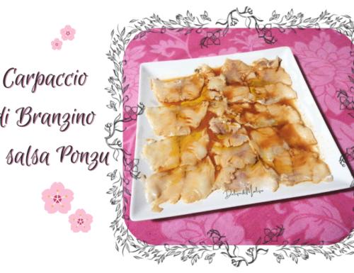 Carpaccio di Branzino in salsa Ponzu