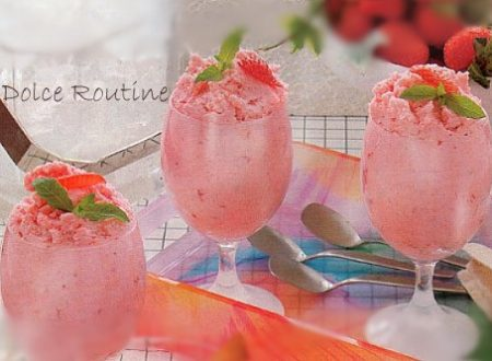 Sorbetto alle Fragole con Yogurt