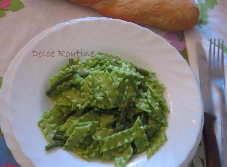 Reginette al Pesto con Fagiolini e Patate