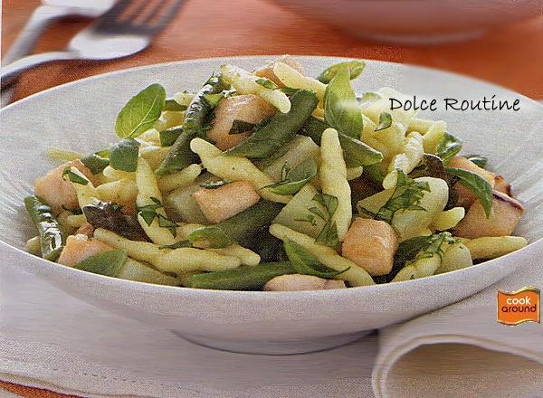 Trofìe con Patate, Fagiolini e Pesce Spada PA