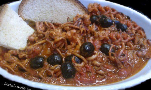 Moscardini con le olive
