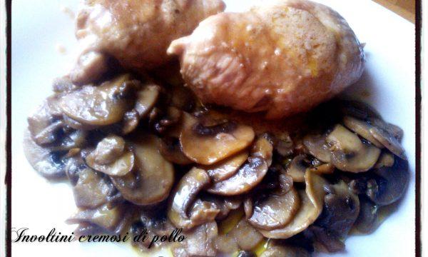 Involtini cremosi di pollo con funghi