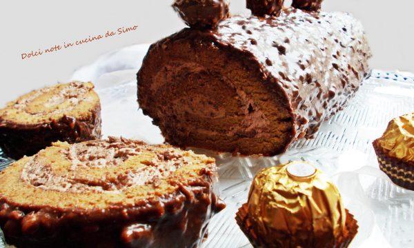 Dolce Rotolo al cioccolato e nocciole
