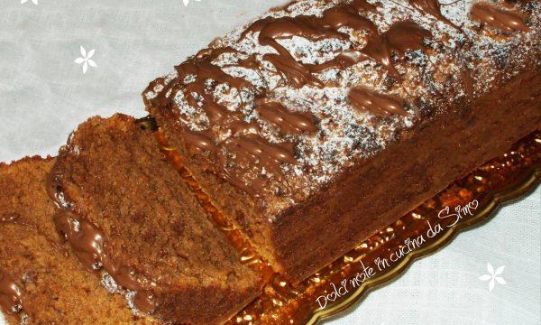 Plum-cake alla crema nocciolata e amaretti