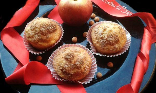 Soffici muffins di mele e amaretti