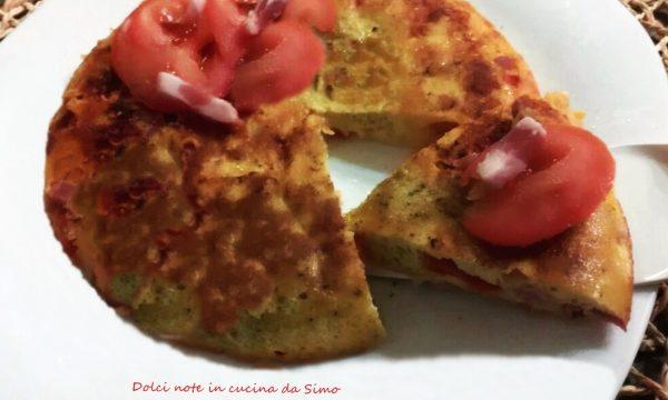 Frittata con pancetta e pomodori