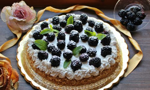 Crostata fredda alle more