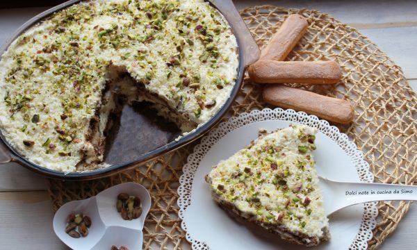Tiramisu' al cioccolato bianco e pistacchi