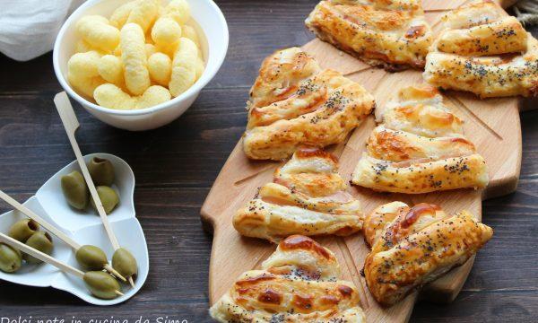 Sfogliette salate prosciutto e formaggio