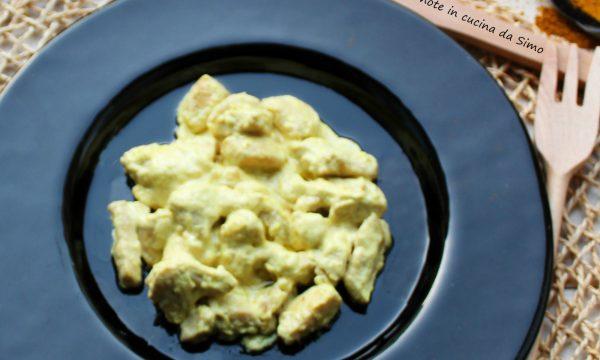 Straccetti cremosi di pollo al Curry