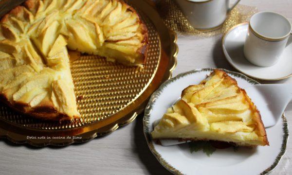 TORTA cremosa di mele e ricotta