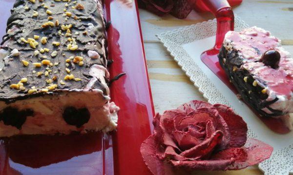 SEMIFREDDO all'amarena e cioccolato croccante