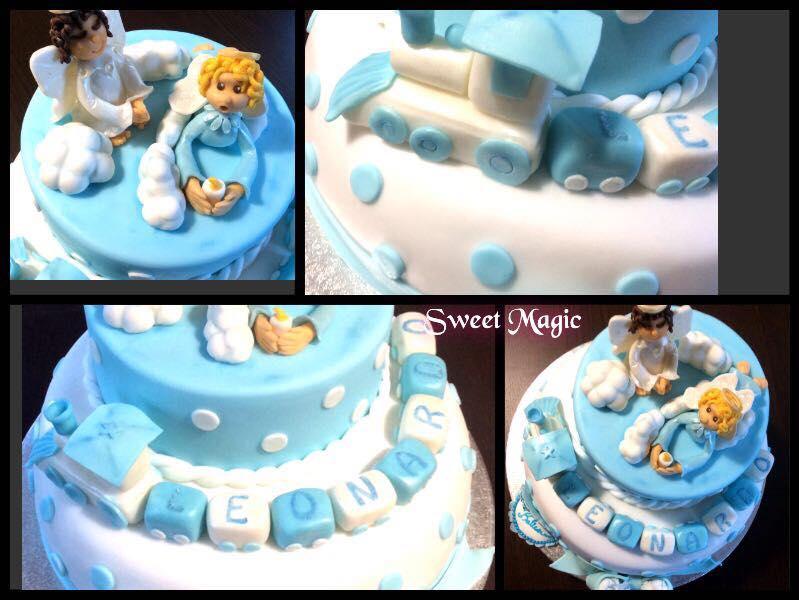 Famoso Torta Battesimo e Cup Cakes in Pasta di Zucchero LG77