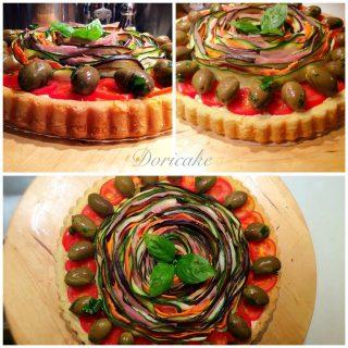 Crostata salata con verdure grigliate
