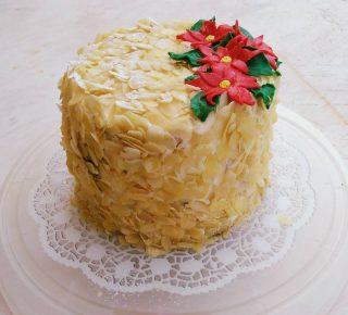Torta panettone con crema